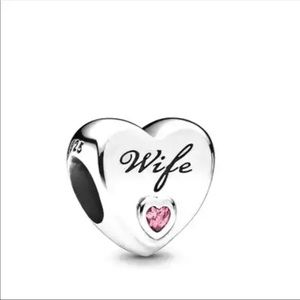 Authentic 925 Sterling Silver Charm Bead - Heart